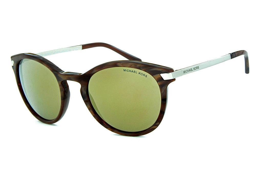 47bcdeef7180c Óculos de Sol Michael Kors MK2023 Adrianna 3 Marrom mesclado com espelho  bronze