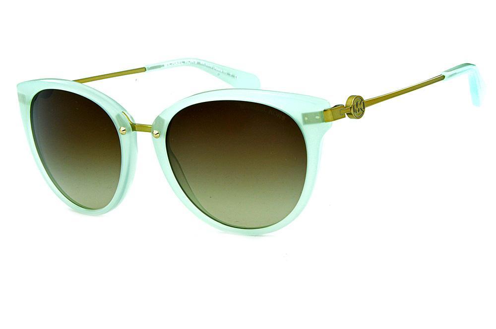 04125f36868b6 Óculos de Sol Michael Kors MK6040 Abela 3 Verde água e hastes bronze