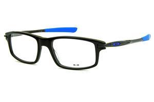 8284f8340d25c Óculos Oakley OX1100 Black   Royal Blue acetato preto brilhante com ponteiras  emborrachadas azul