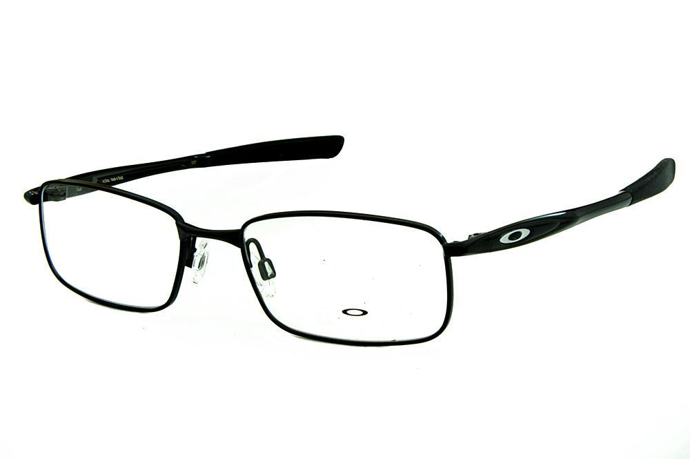 4bc2727c6d12d Óculos Oakley OX3166 Polished Black metal preto com ponteiras emborrachadas