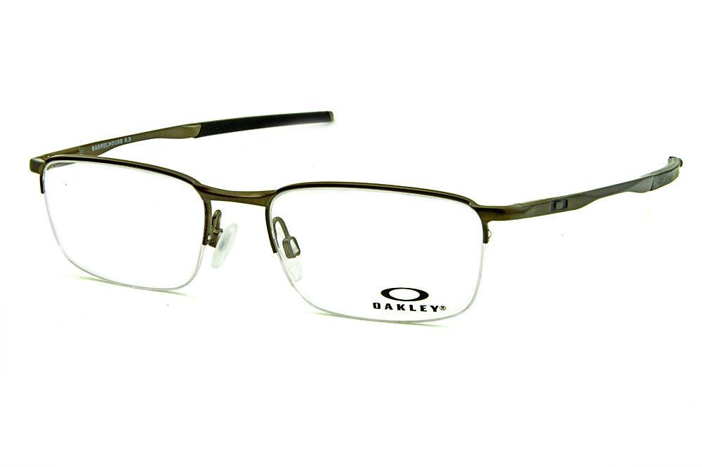 7af43c1e7241a Óculos Oakley OX3174 Barrelhouse 5.0 Metal bronze fosco com ponteiras  emborrachadas