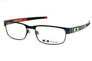 d3ae58f2923e9 Óculos Oakley OX5079 Carbon Plate Metal Titanium azul com hastes em fibra  de carbono cinza