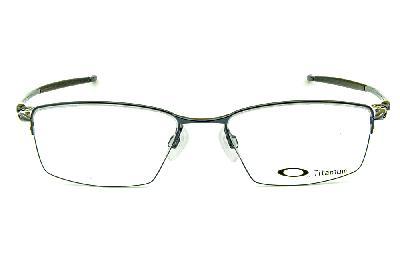 a0a3e1774e906 ... Óculos Oakley OX5113 Lizard Metal Titanium nylon Azul metálico e prata  com ponteiras emborrachadas ...