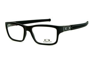 95fbc6693 Óculos Oakley OX8034 Marshal em acetato preto fosco com detalhe nas hastes