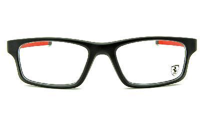 0034f1e93 ... Óculos Oakley OX8037 Crosslink Ferrari Acetato preto e vermelho com haste  adicional preto fosco ...
