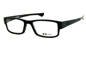 111f650c5 Óculos Oakley OX8046 Airdrop Satin Black acetato preto fosco com ponteiras  emborrachadas