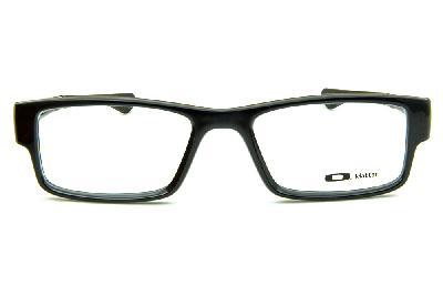 1abea585d8fdd ... Óculos Oakley OX8046L Airdrop Acetato preto brilhante com logo creme ...