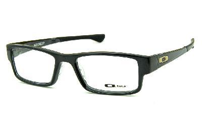 9e92f410b8bec Óculos Oakley OX8046L Airdrop Acetato preto brilhante com logo creme ...