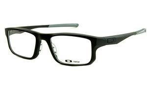91dc5aa1e4cb9 Óculos Oakley OX8049 Voltage Satin Black acetato preto fosco com ponteiras  emborrachadas