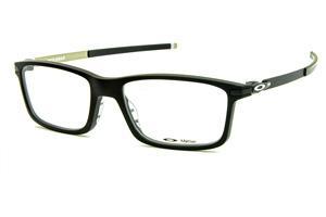 8a4a9b5bcdc09 Óculos Oakley OX8050 Pitchman Acetato preto fosco com haste de metal e  ponteiras emborrachadas