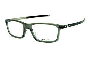 36472b6f38cce Óculos Oakley OX8050 Pitchman Grey Smoke acetato cinza com ponteiras  emborrachadas e logo branco