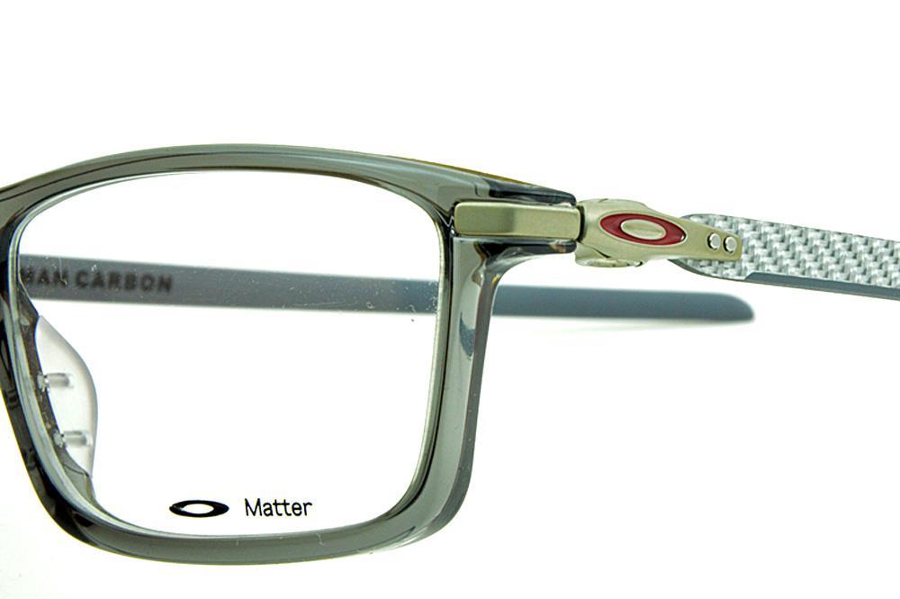 b464044c86f41 Óculos Oakley OX8092 Pitchman Carbon Grey Smoke acetato cinza