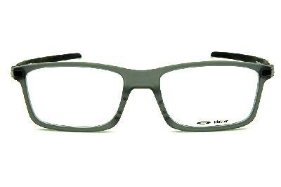 38758fe6602fe ... Óculos Oakley OX8092 Pitchman Carbon Grey Smoke acetato cinza fosco com  hastes em fibra de carbono ...