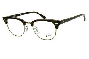 6eb5a7abe Óculos Ray-Ban Clubmaster RB5154 Acetato marrom tartaruga com aro e ponte  em metal grafite