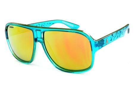 041e2b3d4 Óculos Absurda Calixtin verde e azul neon com lente marrom