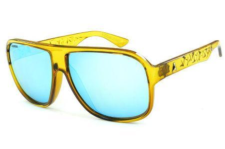 a79fdb8ee22ed Óculos Absurda Calixto amarelo com lente azul espelhada
