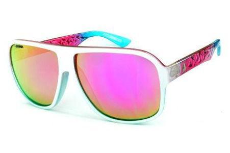 61fa03a2d6f32 Óculos Absurda Calixto branco multicor com lente violeta amarela espelhado