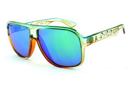 9a0455c4b Óculos Absurda Calixto champanhe/caramelo com lente azul/verde espelhada
