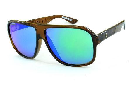 abc3dc967 Óculos Absurda Calixto marrom com lente roxa/azul/violeta espelhado