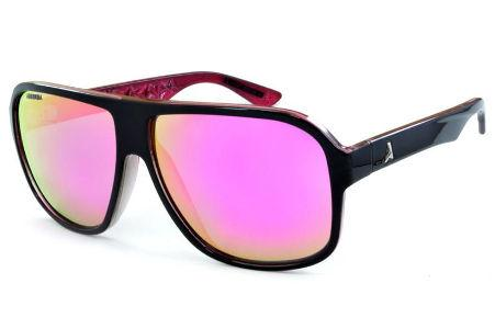 Óculos Absurda Calixto preto e rosa com lente amarela rosa espelhado 1f96aba503