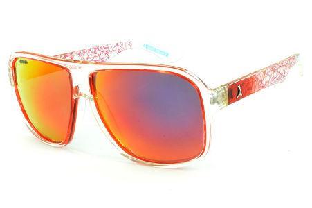 bc6a75c94129d Óculos Absurda Calixto vermelho e transparente com lente amarela vermelha  espelhada