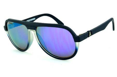 ae22f0a0de92a Óculos Absurda La Rocca azul fosco com lente roxa espelhado