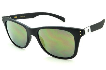 401afec1b4ea7 Óculos HB Land Shark 2 preto fosco e lente espelhada dourada Edição  Especial Miguel Pupo