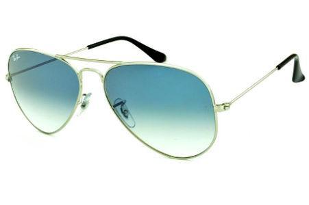 35c7e71c15 Óculos Ray-Ban Aviador RB3025 prata lente azul degradê tamanho 58
