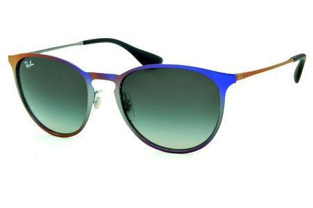 Óculos Ray-Ban Erika Metal RB3539 roxo e cinza com lente degradê 1ab4268de6
