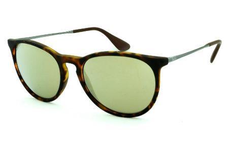 a18240318cabc Óculos Ray-Ban Erika RB4171 efeito onça fosco com lente semi espelhada  dourada