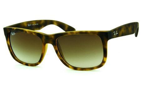 150b167e30969 Óculos Rayban Justin   Armação e óculos cor tartaruga onça   Óculos de Sol    Óculos Quadrado Retangular