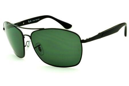 e88389823 Lente em Acrilico | Modelos de Óculos de Sol | Óculos Quadrado/Retangular |  Preto