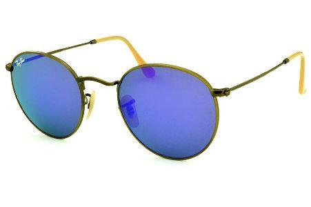 69da0754a Óculos Rayban Redondo Espelhado | Óculos na cor Grafite Cinza Prata |  Superior a R$500,00 | Óculos Redondo