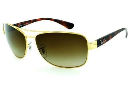 5c9e01866a6cf Óculos Ray-Ban de Sol RB3518 dourado lente degradê e haste efeito onça demi  tartaruga