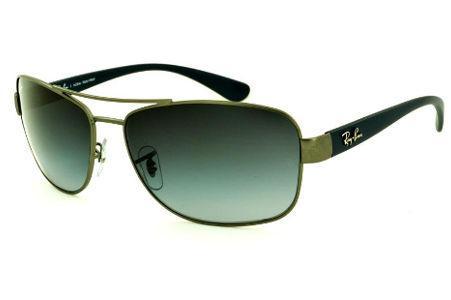 6e7afc209 Óculos Ray-Ban de Sol RB3518 dourado escovado lente degradê e haste azul  petróleo