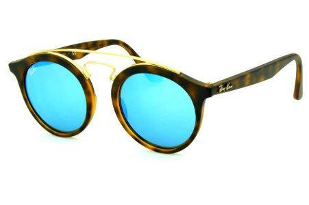 f5b92b80c Óculos Ray-Ban de Sol RB4256 Gatsby Small tartaruga fosco com lente  espelhada azul