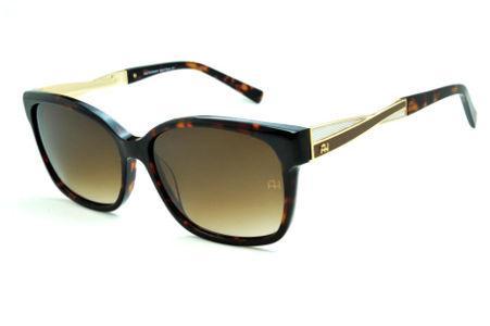2bb913904 Óculos de Sol Ana Hickmann AH9183 demi tartaruga com haste efeito  entrelaçado branco e marrom