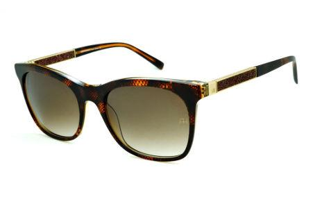 Óculos de Sol Ana Hickmann HI9198 em acetato marrom café e haste giratória  marrom dourada 411946b192