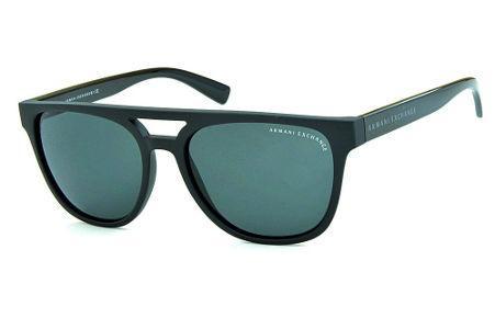 994ec38aa Óculos de Sol Armani Exchange AX4032 Preto fosco estilo gatsby com haste  preto brilhante
