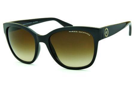 4c867ad0d68e9 Óculos de Sol Armani Exchange AX4046SL marrom com logo redondo e lente  marrom degradê