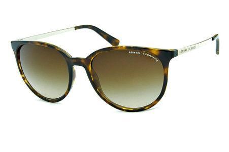 2aa80850805 Óculos de Sol Armani Exchange AX4048 Demi tartaruga com lentes marrom  degradê e haste de metal
