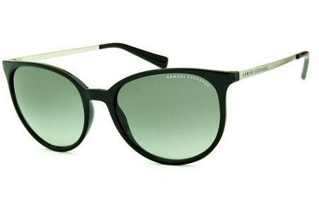 868291e06 Óculos de Sol Armani Exchange AX4048SL preto com lentes cinza degradê  hastes metal prata logo preto