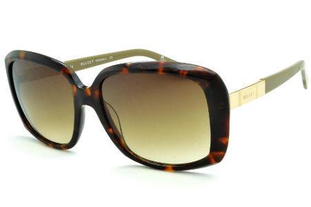 0f7057a2c0c Óculos de Sol Bulget cor demi tartaruga efeito onça com haste verde oliva e  detalhe