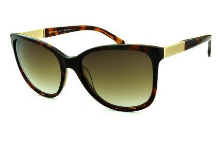 b8a765e906279 Óculos de Sol Bulget cor demi tartaruga efeito onça e detalhe dourado