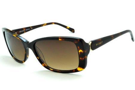 d614588c4b0d5 Óculos de Sol Bulget cor demi tartaruga efeito onça e detalhe dourado