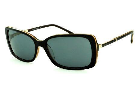 54065449664c0 Óculos de Sol Bulget cor marrom escuro friso bege detalhe dourado