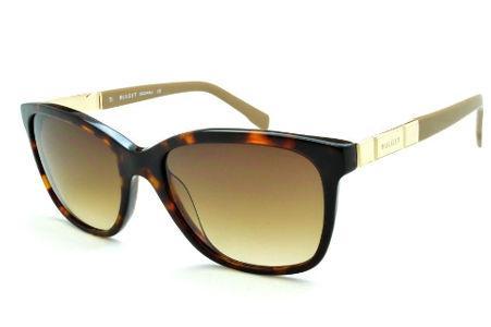 aa26c6d91de05 Óculos de Sol Bulget modelo gatinho cor demi tartaruga efeito onça com haste  areia e