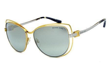 5bb6ecf5b8a36 Óculos de Sol Michael Kors MK1013 Audrina1 Metal dourado e prata com  espelho prata suave