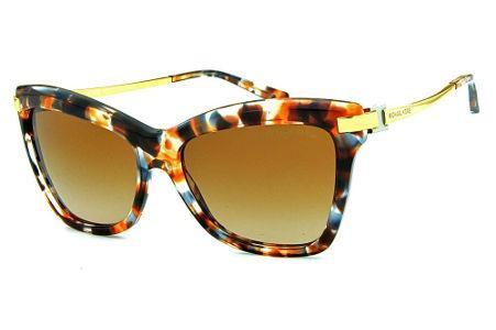 774b6a2af Óculos de Sol Michael Kors MK2027 Audrina 3 Marrom mesclado com hastes de  metal dourado