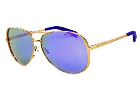 944dc7064aa86 Óculos de Sol Michael Kors MK5004 Chelsea Metal bronze com lentes espelhadas  roxa